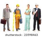 businessman  builder  nurse ... | Shutterstock . vector #23598463