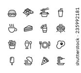 food icon set | Shutterstock .eps vector #235992181