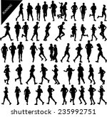 people running big collection - vector