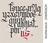 historical gothic handwriting... | Shutterstock .eps vector #236002624