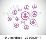 people diagram network... | Shutterstock .eps vector #236003944
