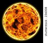 flaming sun | Shutterstock . vector #236008