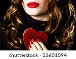 Valentine kiss - color - stock photo