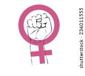 feminism power symbol. feminism ... | Shutterstock .eps vector #236011555