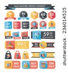 shopping sale banner flat... | Shutterstock .eps vector #236014525