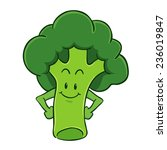 broccoli cartoon character | Shutterstock .eps vector #236019847