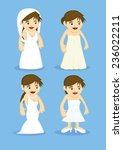 set of four cute vector cartoon ... | Shutterstock .eps vector #236022211