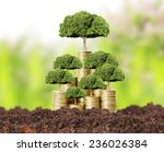 concept of money tree growing... | Shutterstock . vector #236026384
