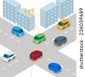 connected vehicle or... | Shutterstock .eps vector #236039689