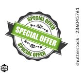 vector  special offer stamp ... | Shutterstock .eps vector #236045761
