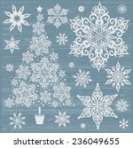 Snowflakes Christmas Vector...