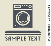 washing machine icon or sign ... | Shutterstock .eps vector #236061361