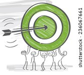 arrow hits exactly the target | Shutterstock .eps vector #236067661