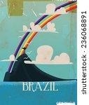 Brazil Vintage Travel Poster...