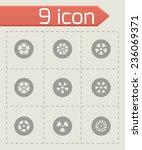 vector wheel icon set on grey... | Shutterstock .eps vector #236069371