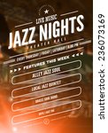jazz music poster template.... | Shutterstock .eps vector #236073169