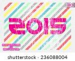 pink figures 2015 on shabby... | Shutterstock .eps vector #236088004