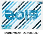 blue numbers 2015 on the shabby ... | Shutterstock .eps vector #236088007
