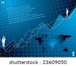 an abstract financial... | Shutterstock . vector #23609050