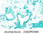 ebru art. hand drawn marbling... | Shutterstock .eps vector #236090584