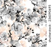 seamless pattern of beautiful... | Shutterstock . vector #236090695