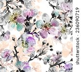 seamless pattern of beautiful... | Shutterstock . vector #236090719
