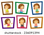illustration of many photo... | Shutterstock .eps vector #236091394