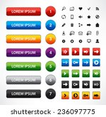 vector set of web colorful... | Shutterstock .eps vector #236097775