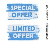 special offer  limited offer  ... | Shutterstock .eps vector #236098735
