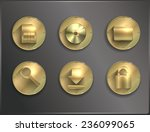 metal round icons flat. tools   Shutterstock .eps vector #236099065