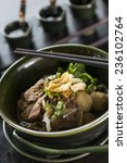 noodle soup with beef | Shutterstock . vector #236102764