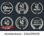 anniversary laurel wreath... | Shutterstock .eps vector #236109655