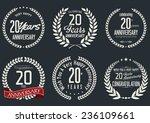 anniversary laurel wreath... | Shutterstock .eps vector #236109661