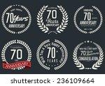 anniversary laurel wreath...   Shutterstock .eps vector #236109664