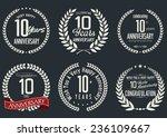 anniversary laurel wreath...   Shutterstock .eps vector #236109667