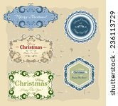 christmas collection of banners ... | Shutterstock .eps vector #236113729