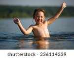 Adorable  Baby Girl Splashing...