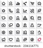 icons set. online store icons.... | Shutterstock .eps vector #236116771