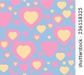 heart seamless background...   Shutterstock .eps vector #236118325