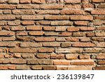 the background shot of brick... | Shutterstock . vector #236139847
