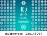 set round ornament pattern.... | Shutterstock .eps vector #236149084
