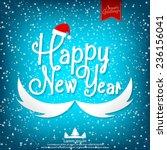 happy new year vector... | Shutterstock .eps vector #236156041