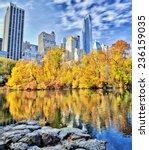 new york's central park and... | Shutterstock . vector #236159035