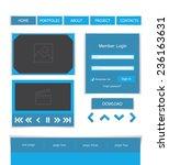 set of web elements  flat...