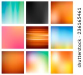 9 abstract colorful smooth...   Shutterstock .eps vector #236165461