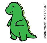 standing big green lizard in... | Shutterstock .eps vector #236170087