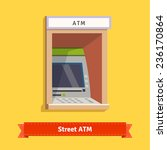 outdoor atm machine. flat style ... | Shutterstock .eps vector #236170864