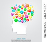 profile of human head with...   Shutterstock .eps vector #236171827