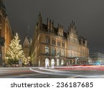 Stock photo hannover germany november old city hall in hannover at evening 236187685