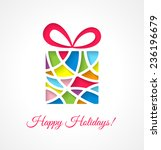 christmas card template with... | Shutterstock .eps vector #236196679